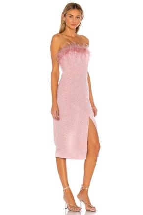 LPA Astrid Feather Trim Dress, €189 (was €234) https://bit.ly/2HNhaRf
