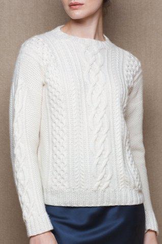 Madigan Cara Aran Cashmere Sweater, €1,250 https://bit.ly/3bzwKL7