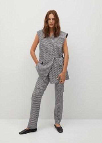 Mango Gingham Check Gilet Suit: Gilet, €69.99 https://bit.ly/3hWqm2M Trousers, €49.99 https://bit.ly/2Z2mqWy