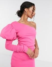 Moda Minx One Shoulder Puff Sleeve Mini Dress, €62.99 https://bit.ly/3bmfvgc