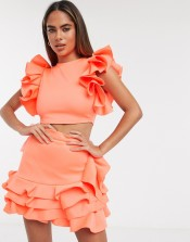 Moda Minx Ruffle Crop Top and Skirt Co Ord, €69.99 https://bit.ly/2EPPtWG