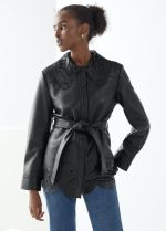 & Other Stories Belted Laser Cut Leather Jacket, €349 https://bit.ly/33g6BhN