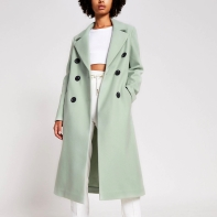 River Island Green Double Breasted Coat, €107 https://bit.ly/34SmUT8