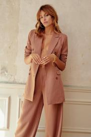 Unfinished Business Pinstripe Suit: Blazer, €42 (was €80) https://bit.ly/3hYVAGk Trousers, €25 (was €50) https://bit.ly/3lMAhuc