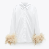 Zara Limited Edition Poplin Feather Shirt, €79.95 https://go.zara/3h2Gf6q