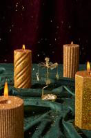 April and the Bear Glitter Pillar Candles, €12 each https://bit.ly/37GB3E8