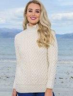 Aran Sweater Market Super Soft Polo Neck Aran Sweater, €94.36 https://bit.ly/31Cmo99