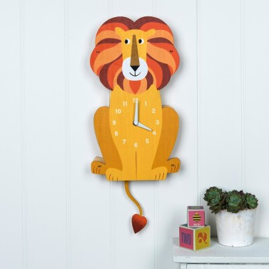 Butterslip Children's Wall Clock Charlie the Lion, €34.95 https://bit.ly/31EIvMi