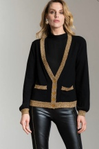Lady Lorna Designer Emporium Lux Gold Trim Cardi, €85 https://bit.ly/2TC2N4V