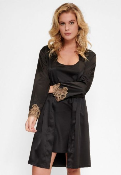 Ophelia Lingerie LingaDore Black Incense Kimono, €59.95 https://bit.ly/3kwLH42