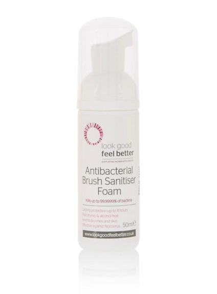Look Good Feel Better Antibacterial Brush Sanitiser 50ml, €12 https://bit.ly/36SbIqI