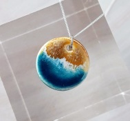 The Cat & The Moon Sharlene Kemple Atlantic Waves Round Pendant, €25 https://bit.ly/2HzjriM