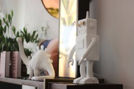 April and the Bear Robot Lamp by Seletti, €195 https://bit.ly/3kRDgAC
