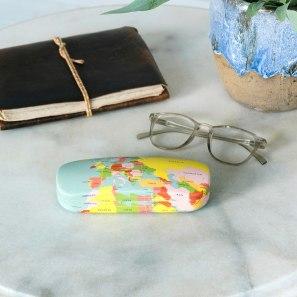 Butterslip World Map Glasses Case, €7.95 https://bit.ly/34UkjaZ
