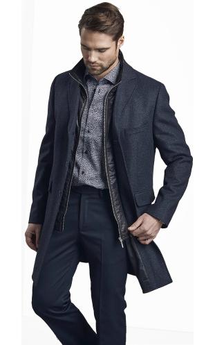 Dorian Black Kane Navy Coat, €279 https://bit.ly/2TLEOjE