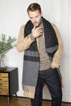 Foxford Two Tone Grey & Black Scarf, €23 https://bit.ly/38n0MCf