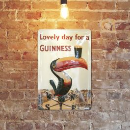 Carroll's Irish Gifts Guinness 'Iconic Toucan On A Weathervane' Metal Sign (20cm X 30cm), €20 https://bit.ly/3jQOaVW