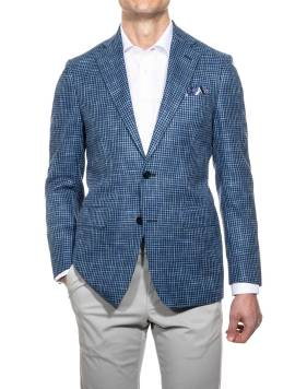 Louis Copeland Blue Houndstooth Jacket, €439.20 (was €as €549) https://bit.ly/3mLSM1n
