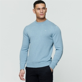 Magee 1866 Blue Carn Cotton Crew Jumper, €79 https://bit.ly/3kLEhtQ