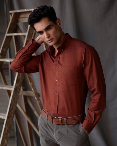 Dunnes Stores Paul Costelloe Living Regular Fit Cotton Twill Long Sleeve Shirt, €29.51 https://bit.ly/32e7syt
