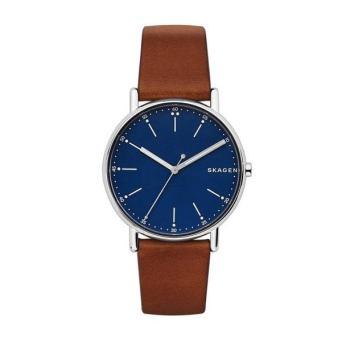 Adams Jewellers Skagen Gents Brown Strap Watch with Dark Blue Dial, €99 https://bit.ly/3kZeazB