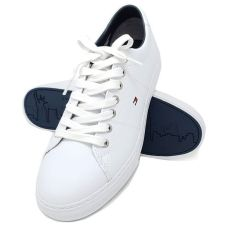 EJ Menswear Tommy Hilfiger Leather White Trainers, €87.96 (was €109.95) https://bit.ly/2GqdCUr